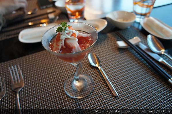精緻前菜-蟹肉番茄凍