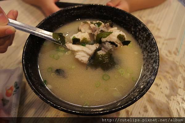 深海石斑魚肉味噌湯(小)