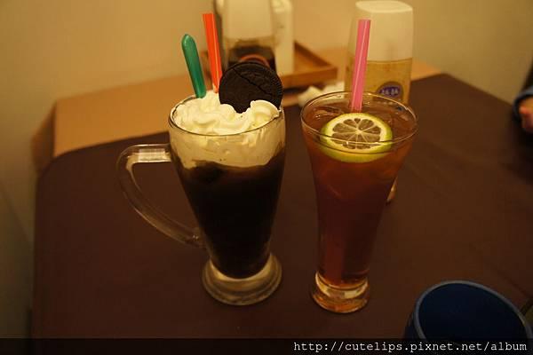 奶霜冰咖啡&鮮檸檬紅茶