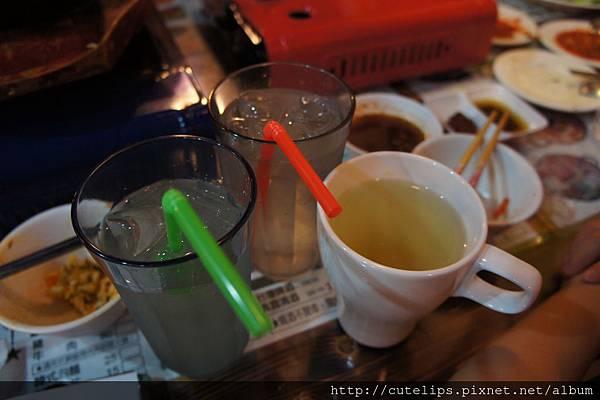 蘆薈汁、蘋果汁&熱柚子茶