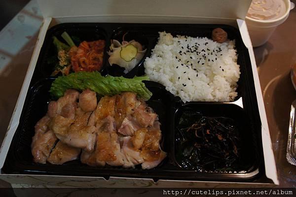 炭烤雞肉香橘醋定食102/11/24