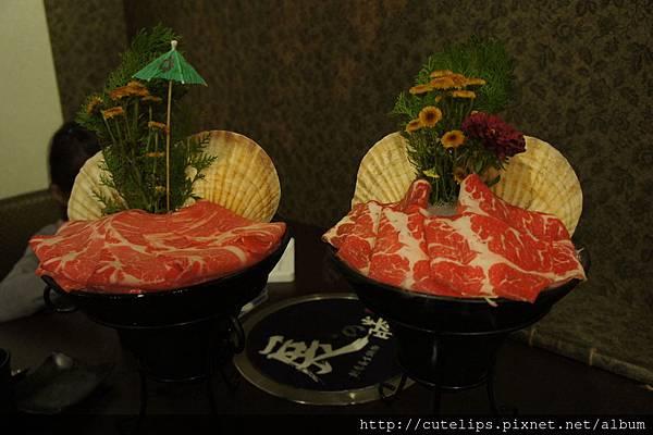 梅花豬肉&安格斯牛小排