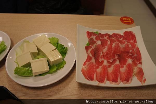 手工豆腐&梅花肉