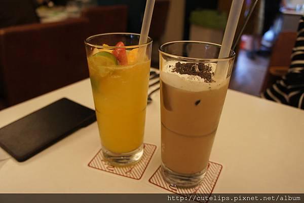 冰水果桔茶&特調冰咖啡