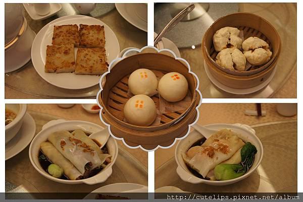 蘿蔔糕、蠔汁叉燒包、流沙包、蔥花叉燒腸粉&韭菜鮮蝦腸粉103/3/2