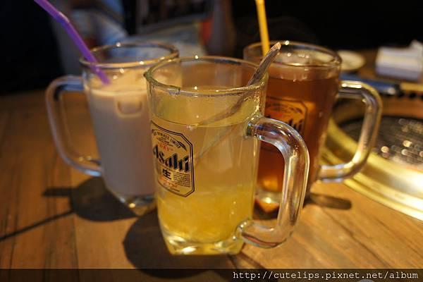 冰奶茶、熱柚子茶&冰檸檬茶