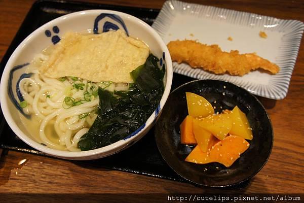 柴魚上湯烏龍麵、炸蝦&橙汁蜜薯