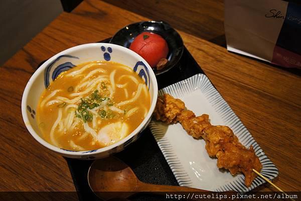 湯咖哩烏龍麵、炸雞塊&梅漬番茄