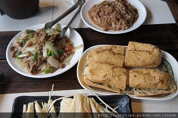 風味炒羊肉+爽餅