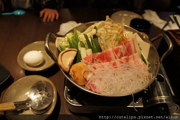 店長推薦兩人套餐-壽喜鍋(豬)103/7/26