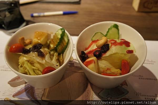 沙拉-義大利油醋&綜合莓果醬