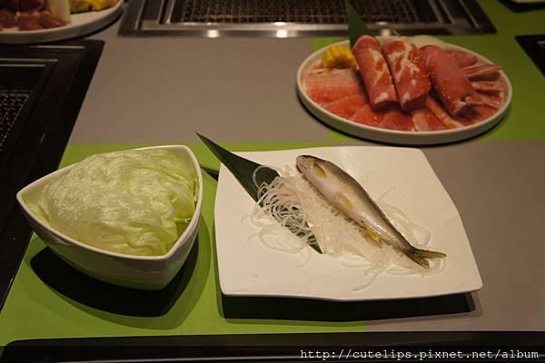 萵苣生菜&贈送的香魚