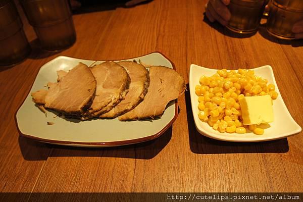 配菜-叉燒&奶油玉米