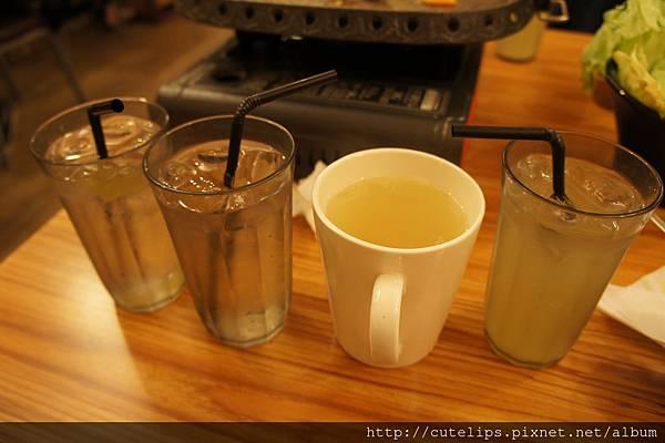 葡萄汁、蘋果汁&柚子茶(熱&冰)