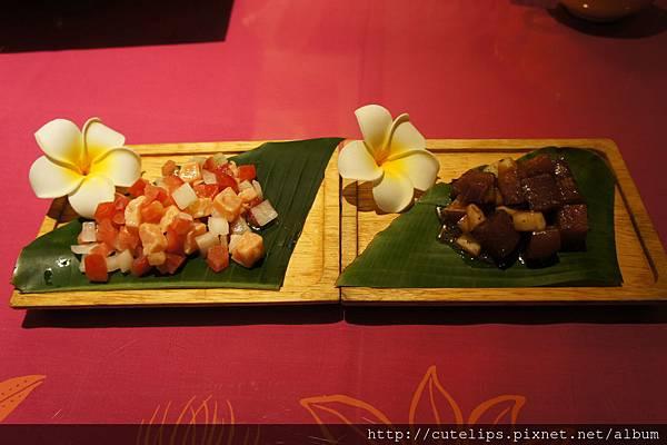 生鮭魚冷盤&生鮪魚冷盤