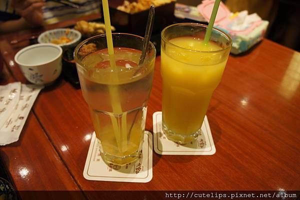 冰柚子茶&芒果可爾必思