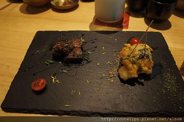 1580元個人套餐-日本干貝揚拼鐵板牛小排