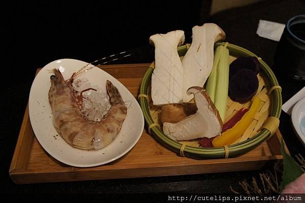 澳洲和牛9A套餐-澳洲野生大明蝦&野菜燒烤組合104/6/27