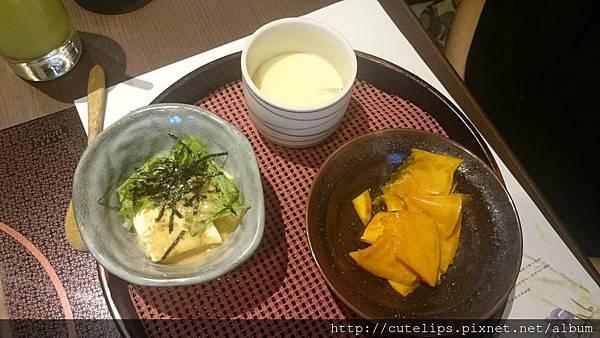 刺身炸蝦天婦羅御膳-先付三品104/7/19