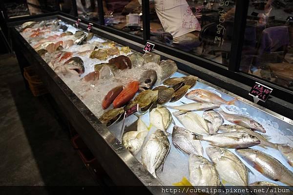 海鮮食材區
