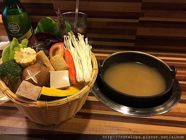 湯頭-家鄉味噌&新鮮菜盤