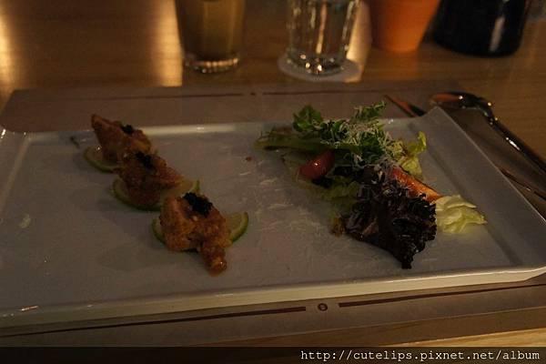 沙拉-辣味鮪魚佐檸檬酒醋沙拉