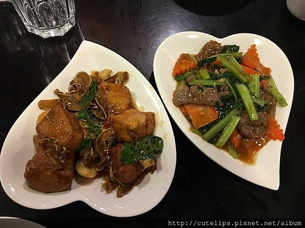 三杯嫩豆腐&時蔬炒牛肉105/2/29