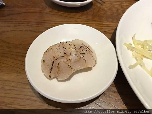 鹽炙大干貝壽司105/3/27
