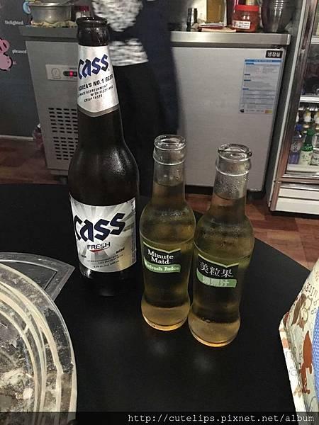 韓國Cass啤酒&蘋果汁