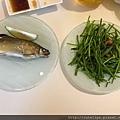 烤香魚&炒水蓮