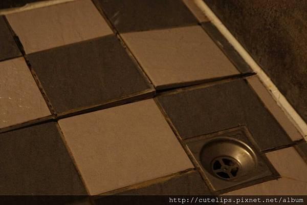 鬱金香隆起的浴室磁磚