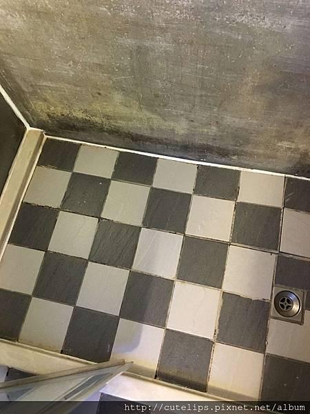 滿多發霉的浴室磁磚