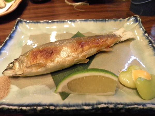 中食~烤香魚