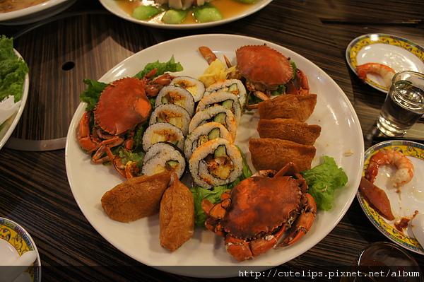 紅蟳壽司盤