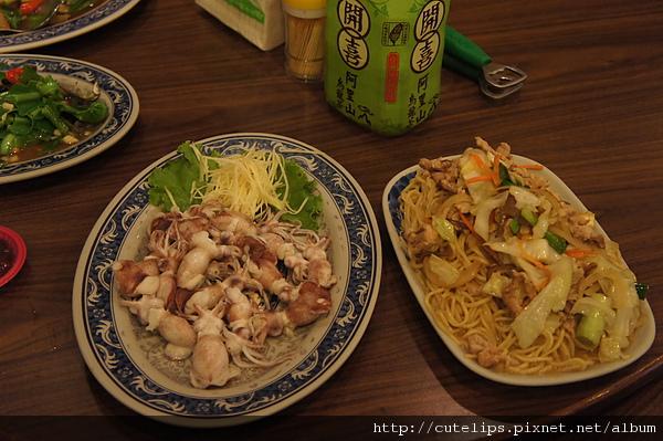 水煮章魚&炒麵