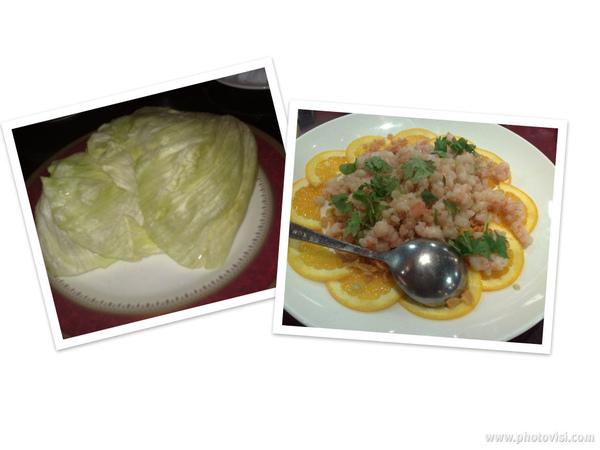 生菜盛蝦鬆