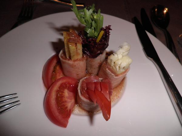 沙拉-義式油醋鮭魚捲