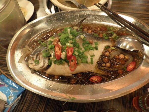 清蒸紅杉魚