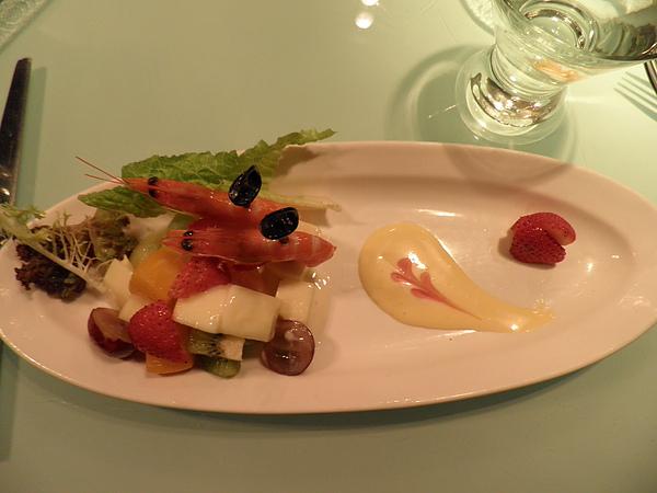 鮮蝦水果沙拉