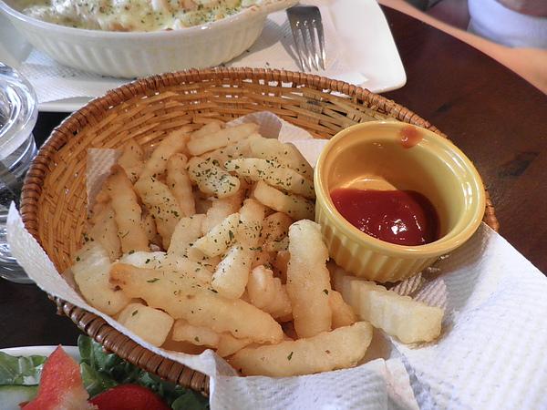 牛排附贈的薯條