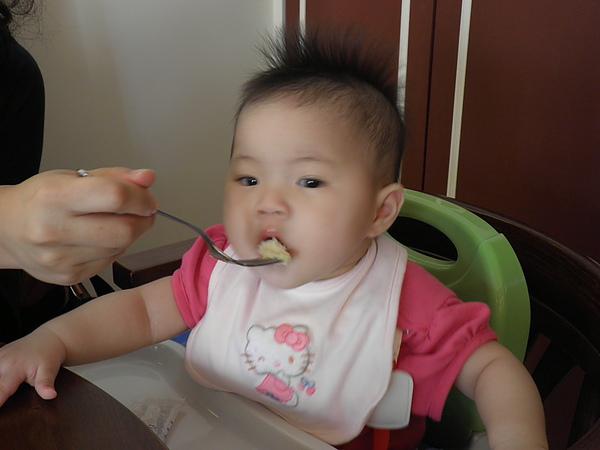 吃的津津有味的小希