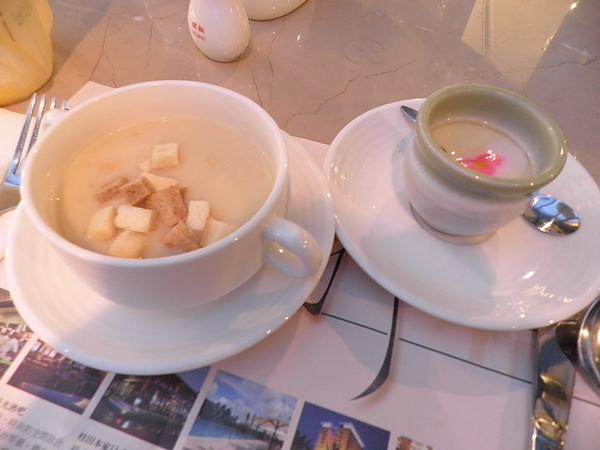 玉米濃湯&茶碗蒸