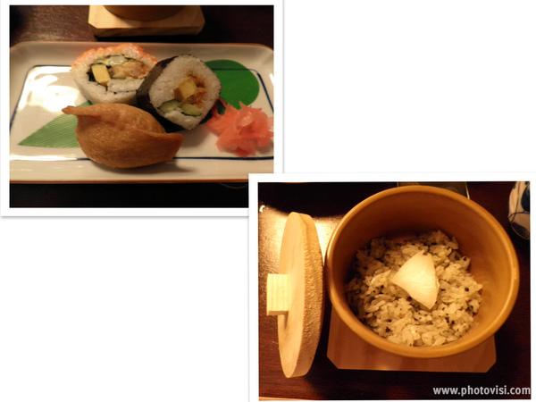 豆皮、花捲壽司&黑松露蒸飯