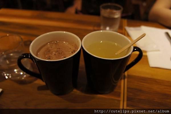 熱可可&熱柚子茶
