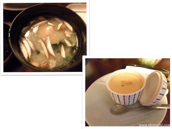 味噌湯&單點的茶碗蒸