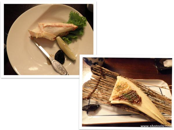 鹽烤帝王蟹&竹筍味噌燒