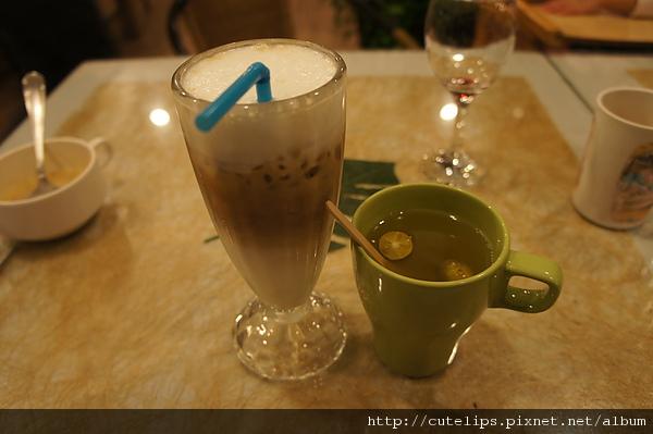 附餐飲料-冰拿鐵&熱桔茶
