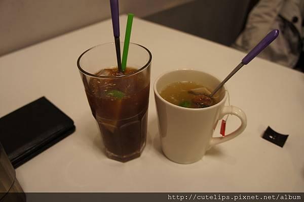 冰檸檬紅茶&熱桔茶