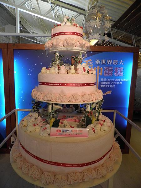 全世界最大的毛巾蛋糕