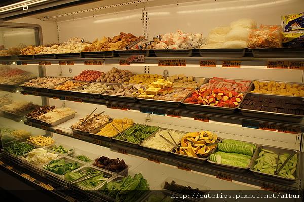 蔬菜、火鍋料區